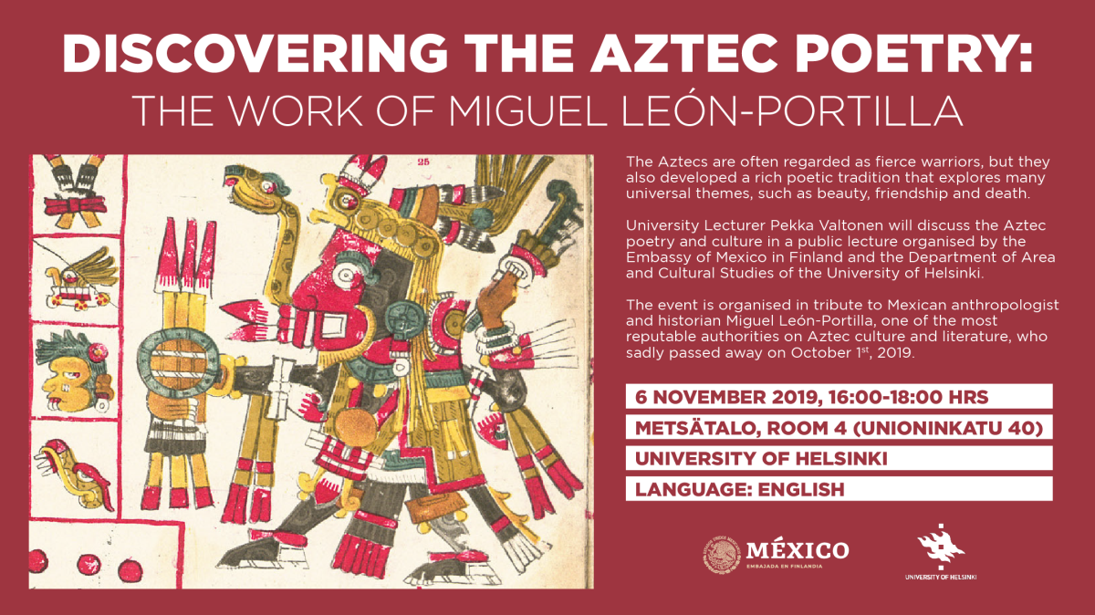 Conference: Discovering the Aztec poetry