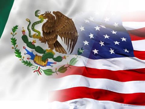 Mexico y Estados Unidos Banderas México-estados Unidos