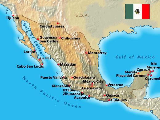 a history and geography of mexico Photo gallery maps geography demographics news video history events and holidays en español web bordering the caribbean sea and the gulf of mexico.