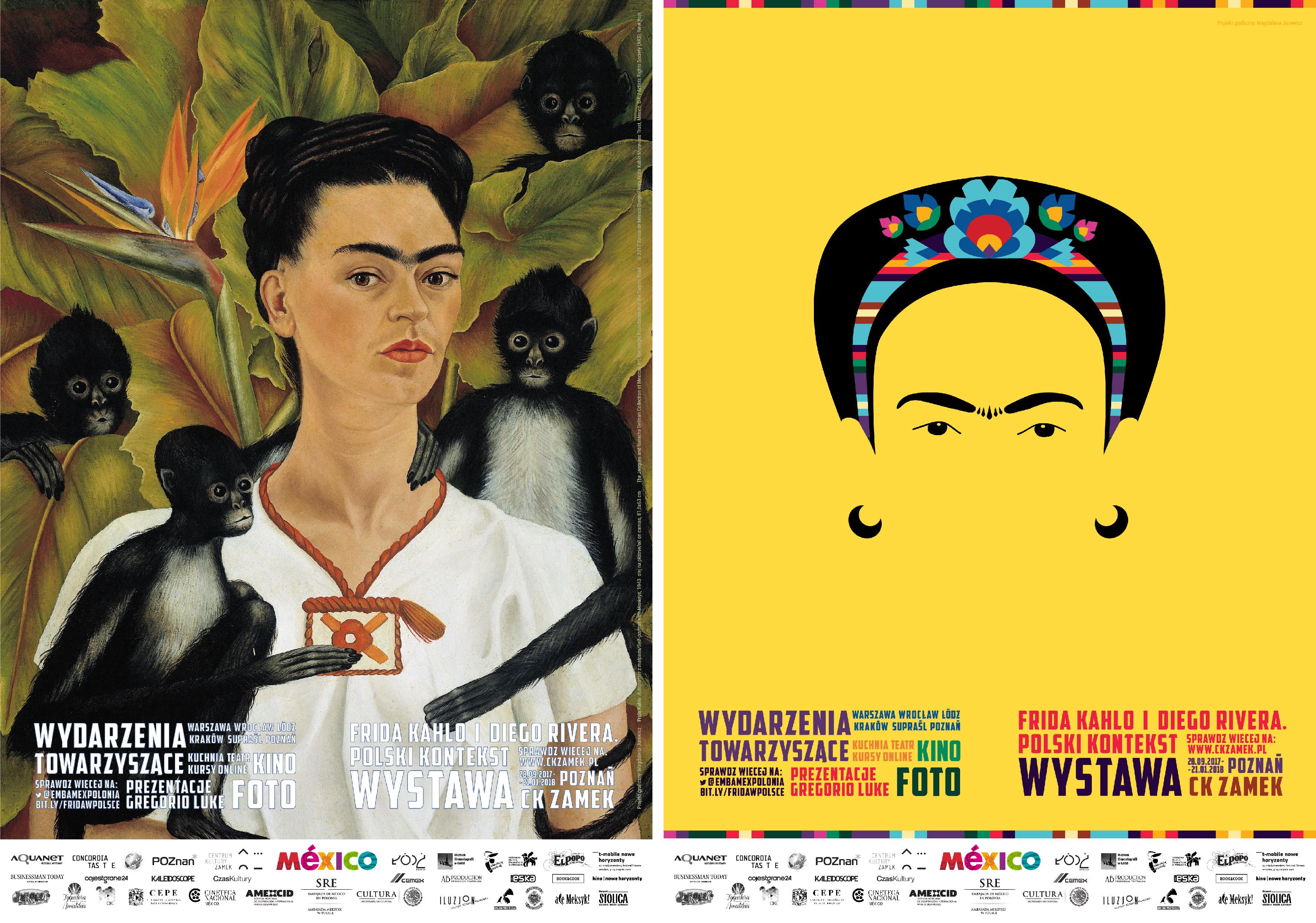 Los Carteles Promocionales Sobre Frida Kahlo En Polonia En