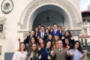 Visita de estudiantes en Derecho de la Universidad de Bucarest