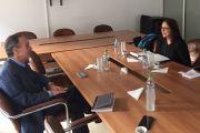 Reunión con la Directora de Diplomacia Pública, Cultural y Científica del MAE